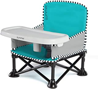 Summer Infant Pop 'n Sit SE Booster Chair (Sweetlife Edition), Aqua Sugar