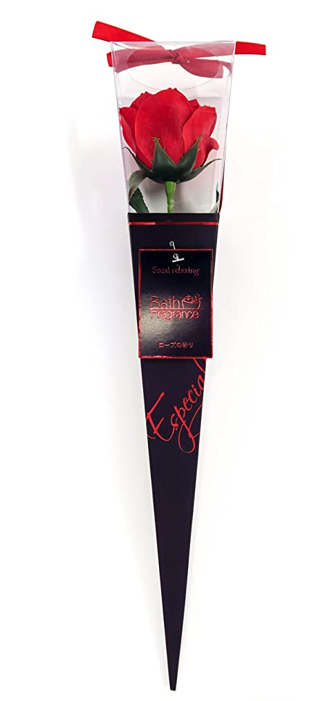 激怒世紀カウボーイバスフレグランス フラワーフレグランス プレミアムkelee レッド 1輪 お花の形の入浴剤 ギフト ばら