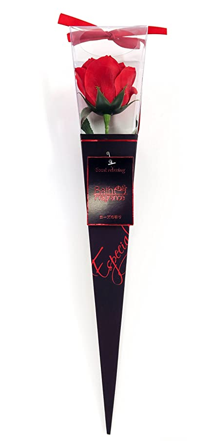神秘見落とすレディバスフレグランス フラワーフレグランス プレミアムkelee レッド 1輪 お花の形の入浴剤 ギフト ばら