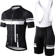 INBIKE Ropa Conjunto Traje Equipacion Ciclismo Hombre Verano con 3D Acolchado De Gel, Maillot Ciclismo + Pantalon/Culote Bicicleta para MTB Ciclista Bici