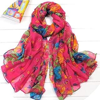 2019 spring Scarf women Lady Multi color Flower print lady Scarf Long Soft Wrap Shawl Stole Pashmina