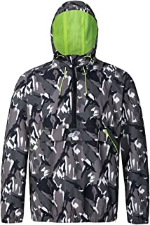 Rokka&Rolla Men's Water-Resistant Hooded Quick Dry Athletic Windbreaker Jacket Hoodie