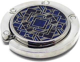 Borsetta resina geometrica art deco nero blu oro metallo 4,5 cm regali personalizzati regalo di natale amici compleanno os...