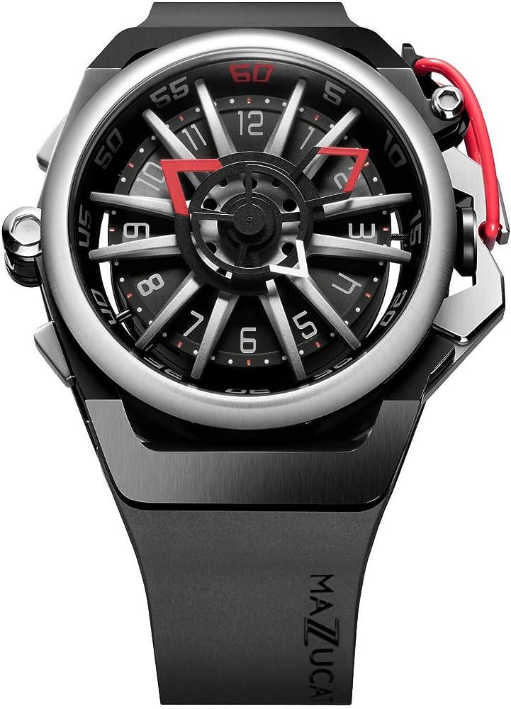Mazzucato orologio da uomo reversibile automatico e cronografo con cinturino in gomma fkm 01-BK186