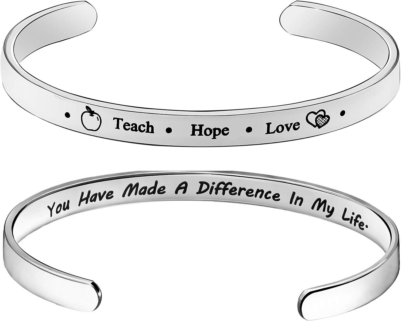 PAVITYAKSH Teacher Discount Max 41% OFF mail order Appreciation Gifts Cuff Bracelet Gift