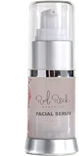 Red Rock Organics Rosacea and Sensitive Skin Serum | Organic & Nano Nutrients- Firms and Tightens-Reduces Puffy Eyes & Soothes Skin with Manuka Honey and Hyaluronic Acid (.5 oz)