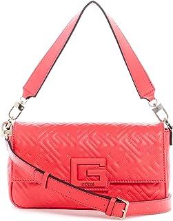 Guess Crossbody Bag For Women, Deep Pink - QG758019