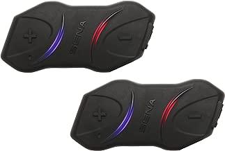 Sena SMH10R Low Profile Motorcycle Bluetooth Headset and Intercom Dual Pack - SMH10RD-01