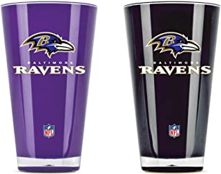 NFL Baltimore Ravens 20oz Insulated Acrylic Tumbler Set of 2