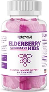 Havasu Nutrition Elderberry Gummies for Kids 50mg -Immune System Support – Cold..