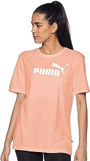 PUMA Women's ESS+ Logo Boyfriend TEE