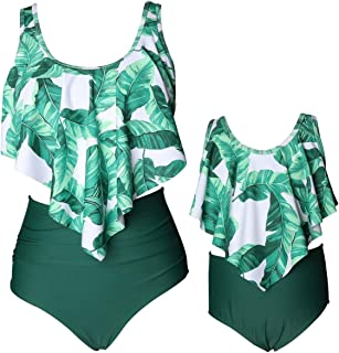 Girls Swimsuit Two Pieces Bikini Set Tassel Falbala Matching Swimwear Bathing Suits