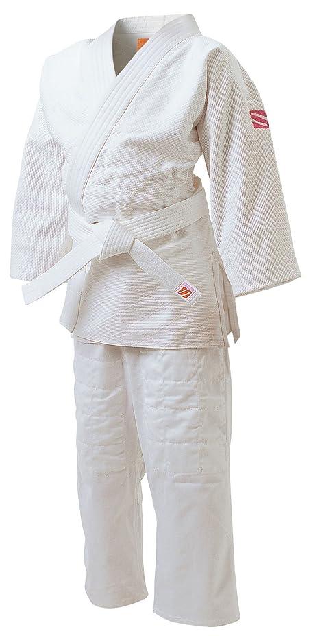 額磁気九桜 JSL 女子用一重織柔道衣 (背継仕上) さくら 上下セット S2サイズ JSLS2