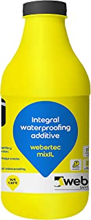 Webertec Mixil (Wine Red) - 1 L | Waterproofing additive for Cement Plaster | Saint Gobain Weber | 200 ml per 50 kg Cement...