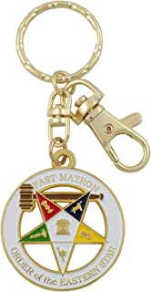 Past Matron Order of the Eastern Star Key Chain with Purse Hook/Belt Clip