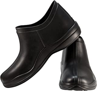 Mens Rubber Waterproof Rain and Garden Shoes. Clogs for Yard Work and Rainy Walk. Lightweight Boots no Smell