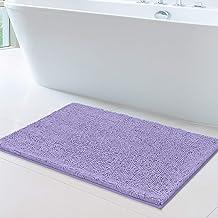 MAYSHINE 24x39 inch Non-Slip Bathroom Rug Shag Shower Mat Machine-Washable Bath mats with Water Absorbent Soft Microfibers...