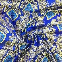 Metallic Floral Brocade Fabric 60