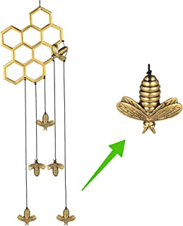 MEMGIFT Bee Honeycomb Wind Chimes for Outside Outdoor Indoor Garden Yard Porch Patio Home Déco Handmade Aluminum Windchime...