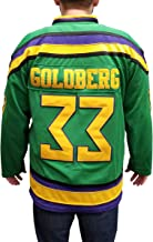 My Party Shirt Greg Goldberg #33 Ducks Hockey Jersey Embroidered Costume Mighty Movie Uniform