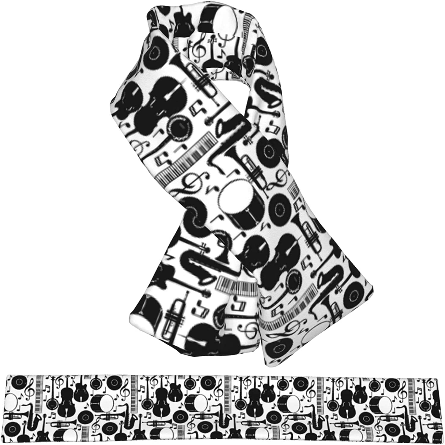 Jazz Music Seamless Super special price Plush Scarf Double-Sided Warm Ranking TOP4