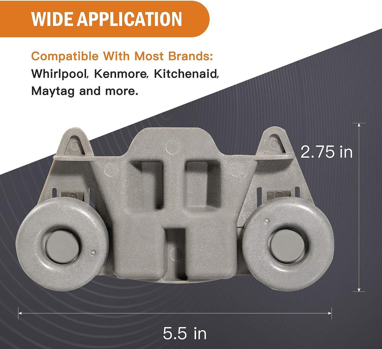 W10195416 Dishwasher Wheels Lower Rack Fits for Maytag Dishwasher ...
