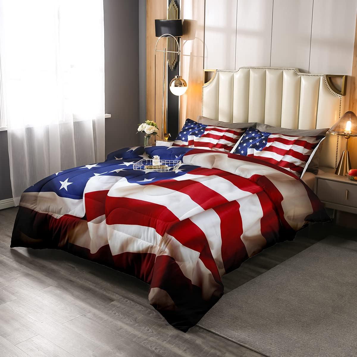 Erosebridal American Recommended Flag Comforter Set States Comf Down Large-scale sale United