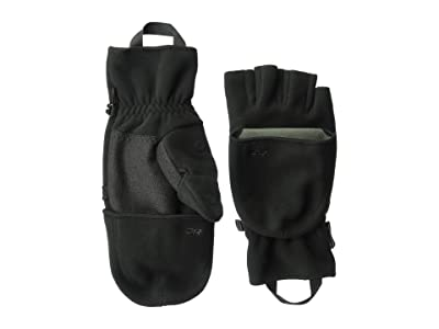 Outdoor Research Gripper Convertible Gloves (Black) Ski Gloves