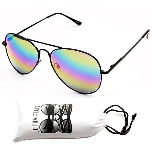f95371df52 A120-vp Style Vault Aviator Pilot Metal Sunglasses