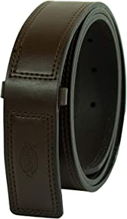 Men's Leather Work Belt - Tactical Industrial Strength Heavy Duty Strap With No Scratch Buckle