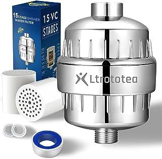 Hoogwaardige douchefilter, douchefilter, 15 lagen, met extra reserve filterpatronen, voor het verwijderen van water, chloo...