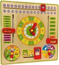 Wooden Clock/Calendar/Weather Board Educational Toy