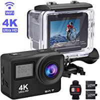 Accfly 4K Waterproof Sport Camera with 2 Rechargeable Battery