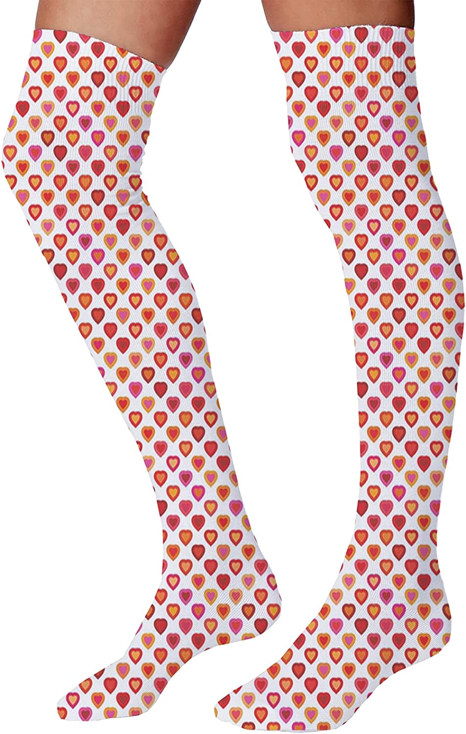 Men's and Women's Fun Socks,Love Peace Themed Text Pacifist Line Political Hippie Groovy Artistic Design