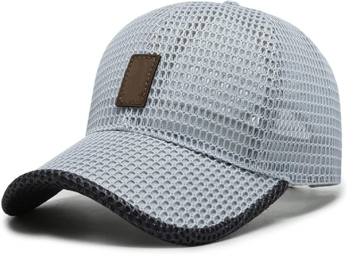 Summer Outdoor Casual Baseball Cap, Exhaust Summer Men and Women Mesh Baseball hat (Light Gray)