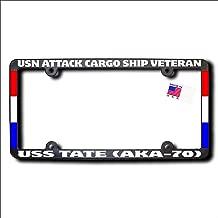 USN Attack Cargo Ship Veteran USS TATE (AKA-70) Frame w/REFLECTIVE TEXT & RIBBONS