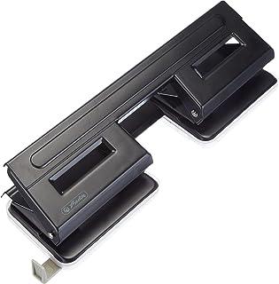 Herlitz 1610880 dubbele perforator 1,5 zwart met aanslagrail