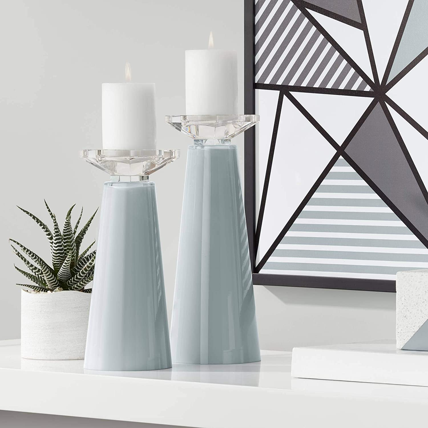 Inventory cleanup selling sale Color Ranking TOP12 + Plus Meghan Uncertain Gray Holder Candle Glass Pillar Se