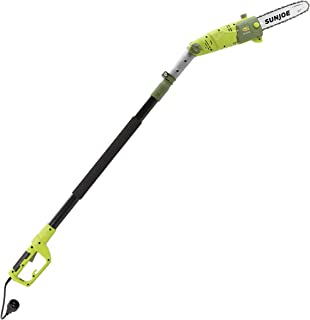 Sun Joe SWJ803E 10 inch 8.0 Amp Electric Multi-Angle Pole Chain Saw, Green