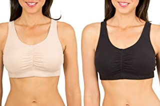 Fruit of the Loom Women's Sport Bra with Cookies (Pack of 2)