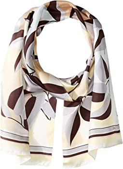 Tropical Geo Silk Scarf