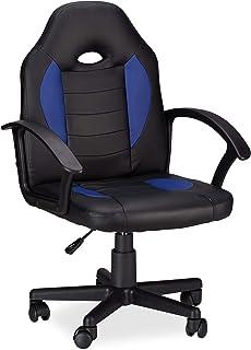 Relaxdays 10022875_45 Sedia da Gaming XR7 Girevole 360° da Gamer Altezza Regolabile per Ufficio fino a 120 kg Stile Racing...