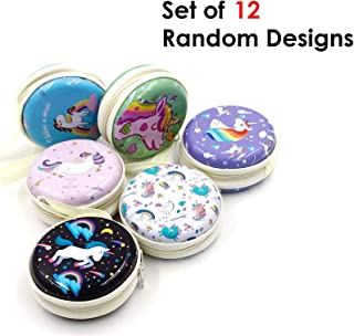 Oytra 12 Piece Unicorn Metal Tin Earphone Pouch Case Box for Coins and Collectibles