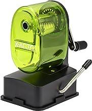 X-Acto 2012687-GRN Bulldog Vacuum Wall Mount Manual Pencil Sharpener, Green, See-through..