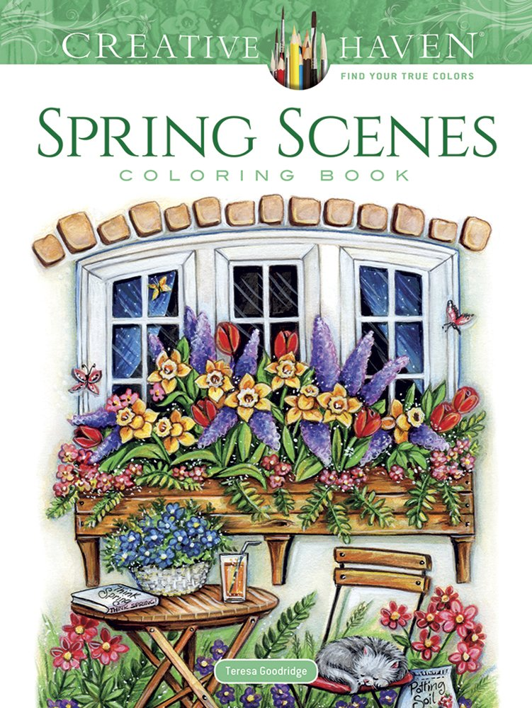 Download Creative Haven Spring Scenes Coloring Book (Colouring Books) 