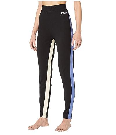 Fila Tatienne High-Rise Leggings (Black/Marlin/Bleached Sand) Women