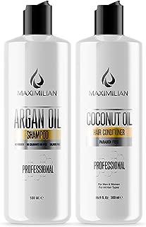 Sulfate Free Shampoo And Conditioner - Argan Oil Shampoo And Conditioner with Organic Argan Oil- Moroccan Oil Shampoo And Conditioner- Color Safe Shampoo And Conditioner (2x16.9 Fl Oz)