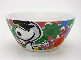 Peanuts Festive Sketch Snoopy bowl with Flowers
