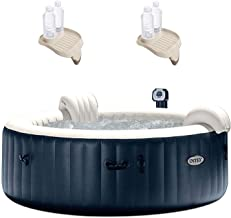 "Intex 75"" Spa 6 Person Round Hot Tub w/ Cup Holder & Refreshment Tray (2 Pack)"