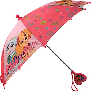 Nickelodeon Girls` Little Paw Patrol Character Rainwear Umbrella, Pink, Age 3-6